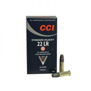 CCI –                 STANDARD VELOCITY AMMO 22 LONG RIFLE 40GR LEAD ROUND NOSE